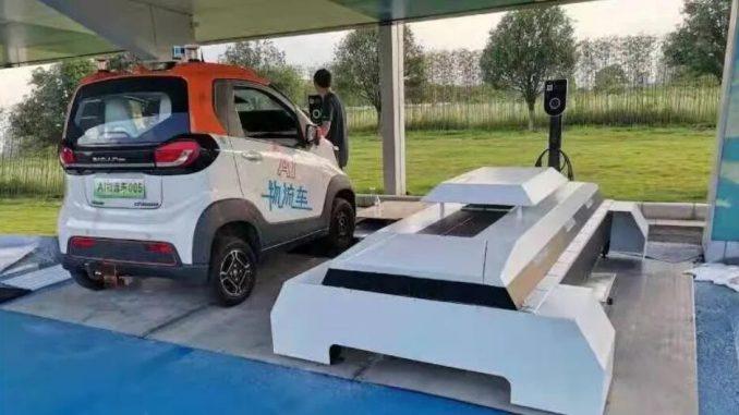 Nuova stazione scambio batterie della Baojun E200 da SAIC-GM-Wuling