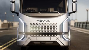 Nuovo design del camion elettrico Tevva