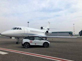 Rinnovata la partnership tra Milano Prime e BMW per auto elettriche nei voli business